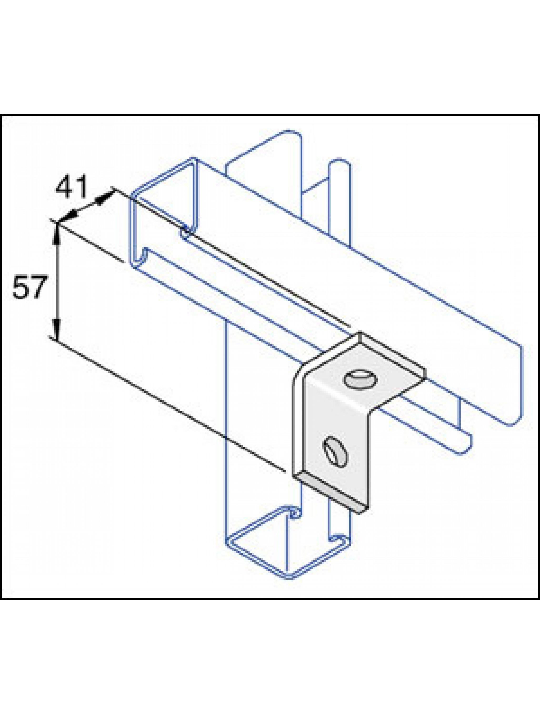 Unistrut Stainless Steel 316 90 Degree Angle Bracket 2 Hole (1x1) (P1068SS)