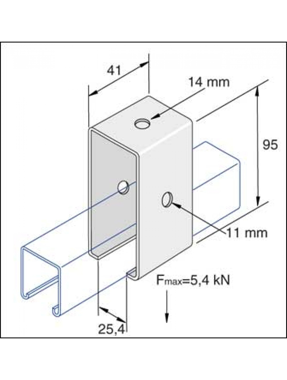 Unistrut channel trolley track hanger for Track hanger