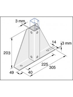 Unistrut Channel 41x41 Slotted Pre Galvanised 6m 14mm