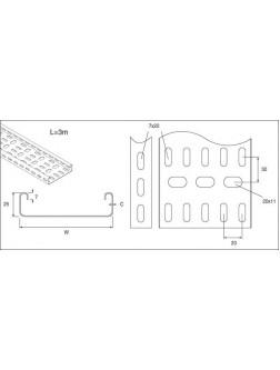 Unistrut Medium Duty Cable Tray 150MM X3M Pre-Galvanised (TUMLT150/10PG)