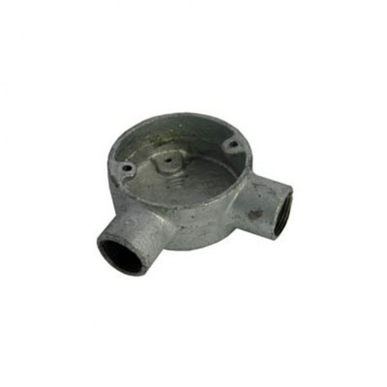 Conduit 25mm Galvanised Angle Box