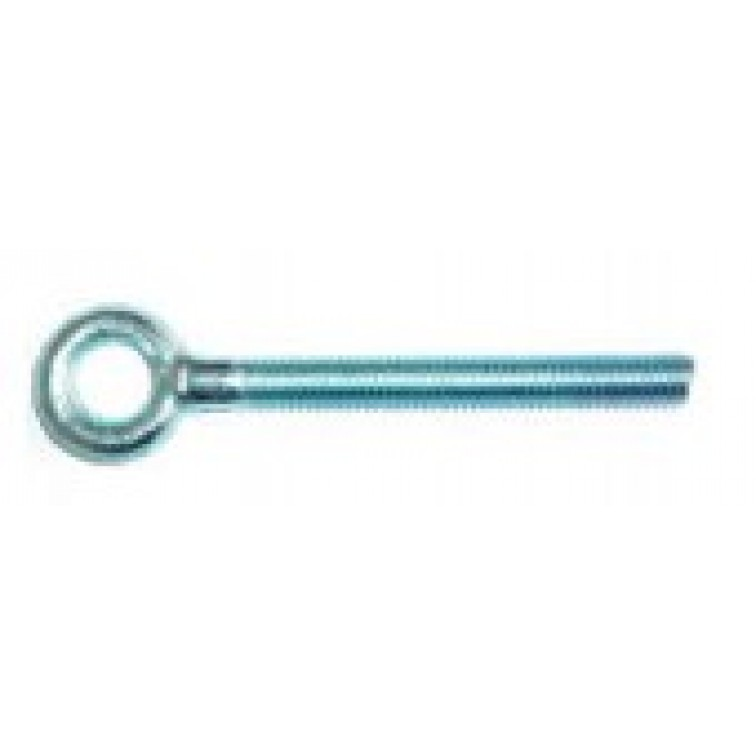 JCP Forged Eyebolts Zinc Plated and Clear Passivated Thread Diameter 6mm Thread Length 50mm (FEM06)
