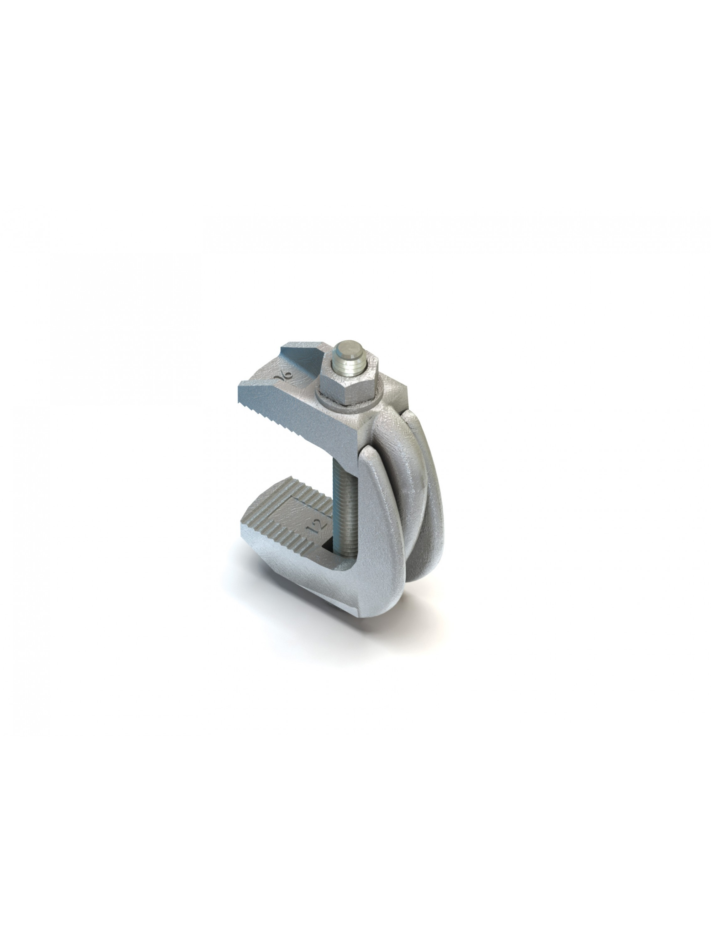 Lindapter M16 F9 Nut Clamp Without Bolt Clamp Zinc Plated (F916NB) (Box  Quantity: 5)