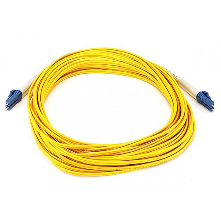 Network Centre 10m LC-LC SM Duplex Fibre Leads Single Mode Yellow