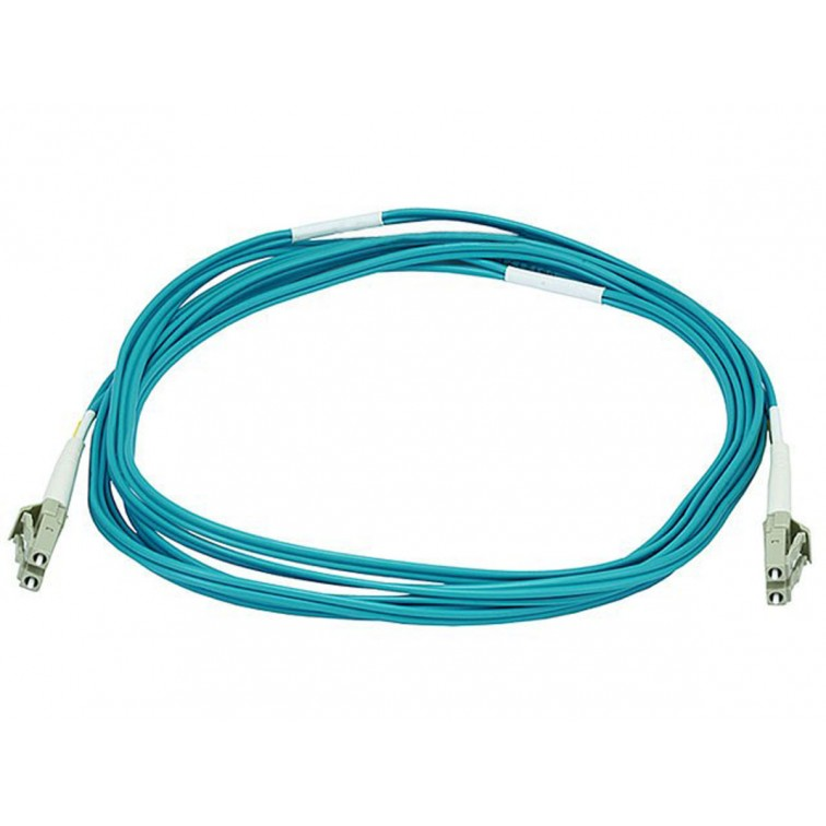Network Centre 10m LC-LC MM Duplex Fibre Leads OM3 50/125 Aqua