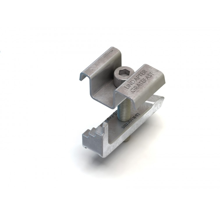 Lindapter M8 Type GF Lindapter Gratefast To suit bar depth 22-38mm in Mech Galvanised (GF08)