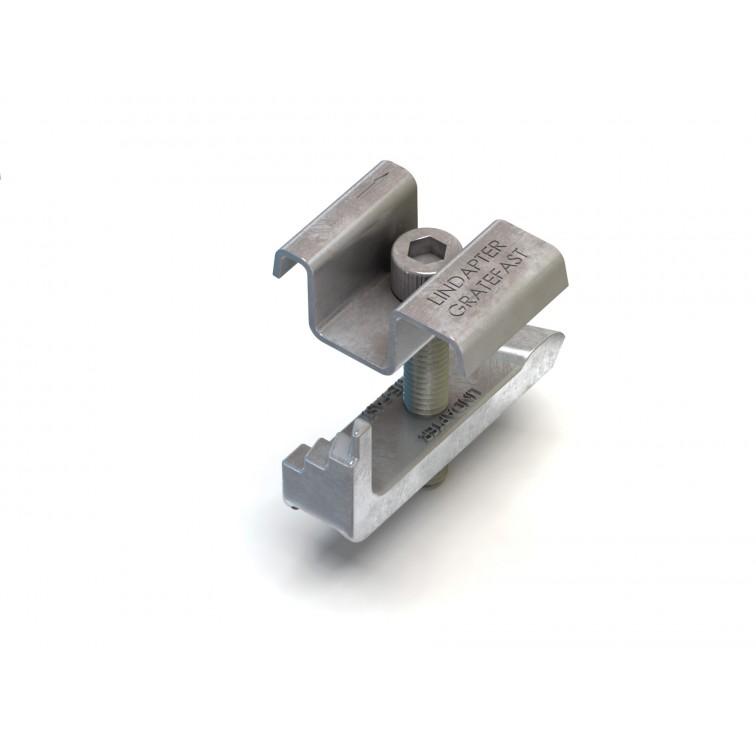 Lindapter M10 Type GF Gratefast Option 1 To suit bar depth 20-50mm in Hot Dip Galv (GF10HDG)