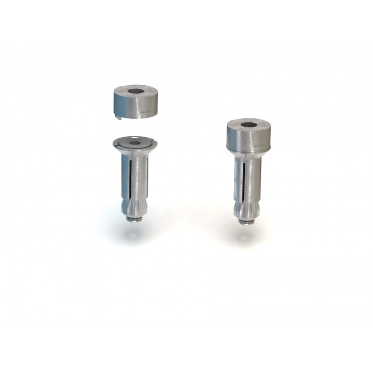Lindapter M8 Size 2 FlushFit Hollo-Bolt JS-500 to suit 27 to 45mm Fixing thickness (HBFF08-2)