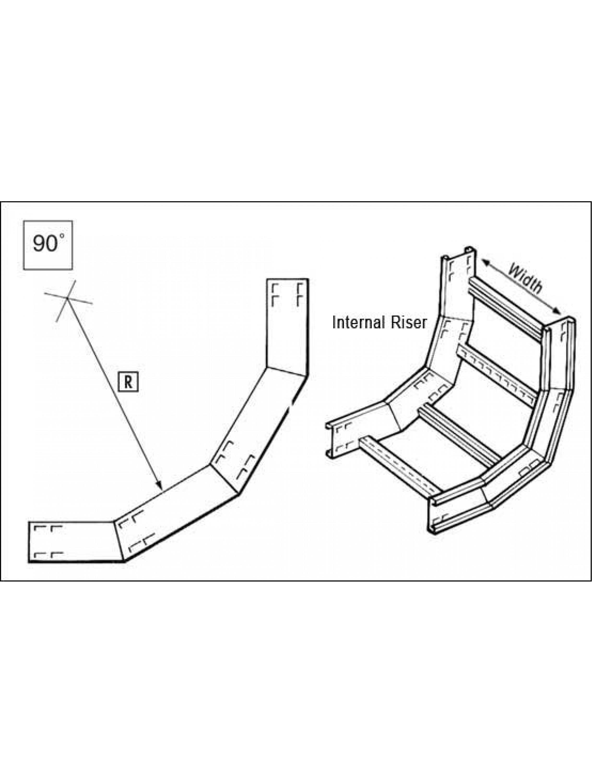 unistrut u10 cable ladder 100mm 90 inside riser 600 x. Black Bedroom Furniture Sets. Home Design Ideas