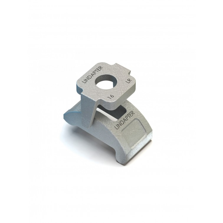 Lindapter M16 Type LR Clip & Saddle to suit 3-16mm clamping range Hot Dip Galvanised (LR16HDG)