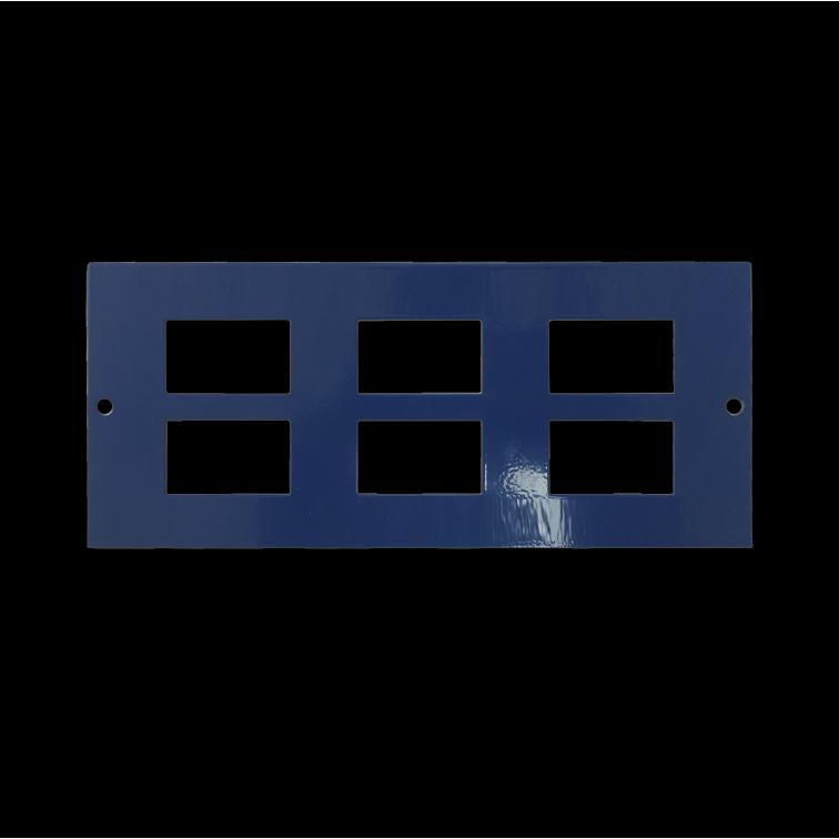Marco Cavity Floor Accessory Plate, 6 x RJ45, 86mm
