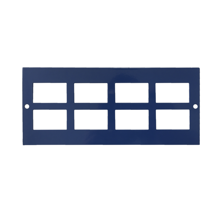 Marco Cavity Floor Accessory Plate, 8 x RJ45, 86mm