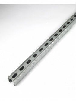 Unistrut Channel 41x41 Slotted Pre-Galvanised 3m (14MM Slots) (P1000TX3) (P1000TX3PG)