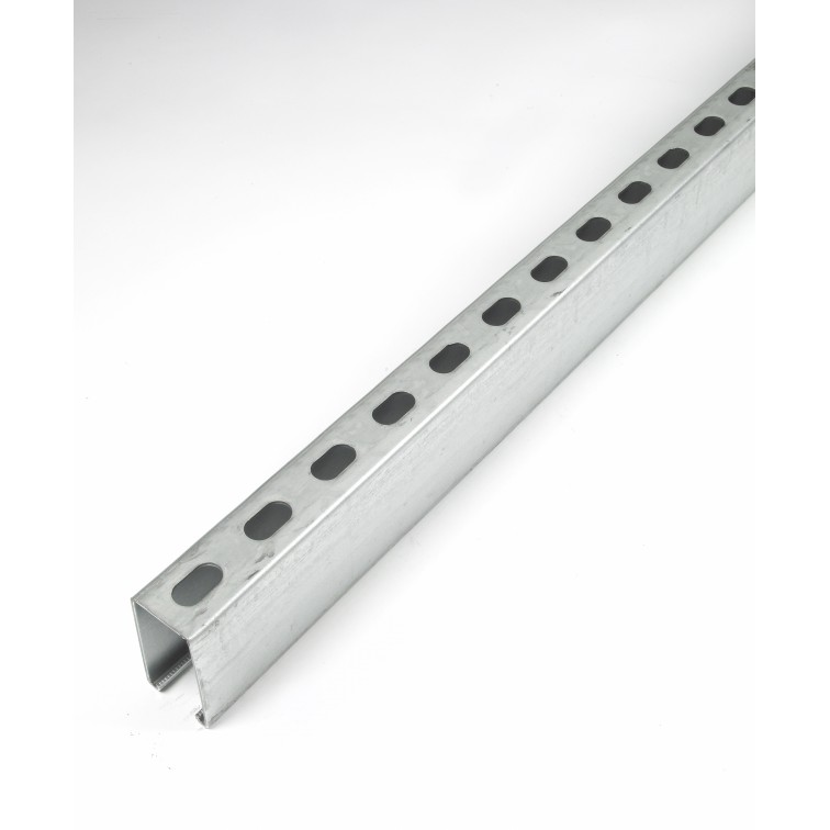 Unistrut Channel 41x82 Back to Back Slotted Pre-Galvanised 6m (P1001T)