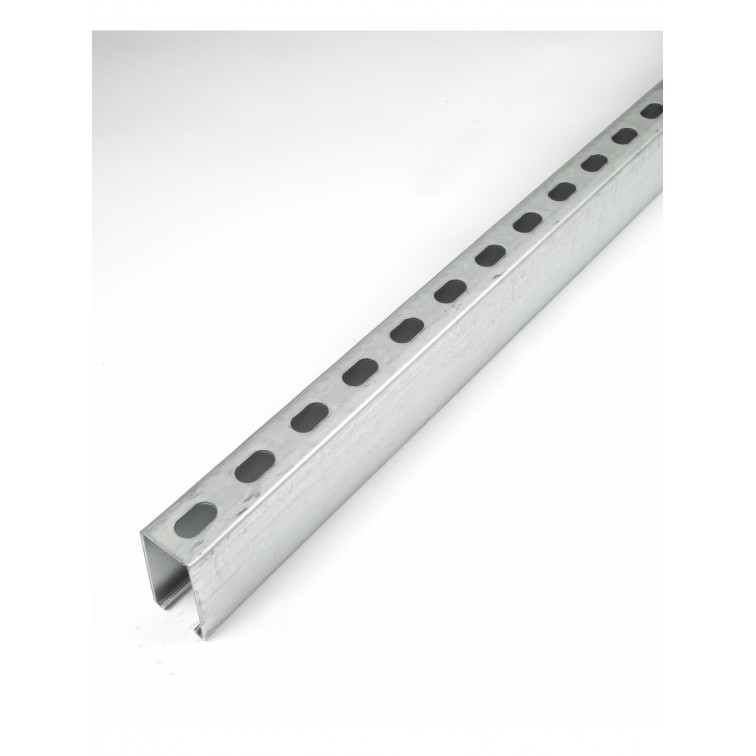 Unistrut Channel 41x82 Back to Back Slotted Stainless Steel 316 6m (P1001TSS)