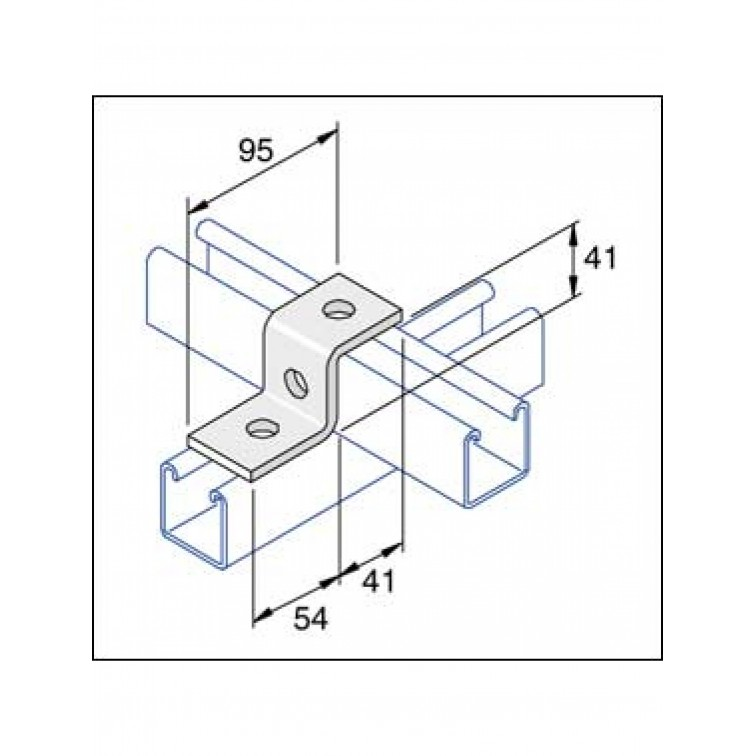 Unistrut 3-Hole Stainless Steel 316 Z Shape Channel Bracket