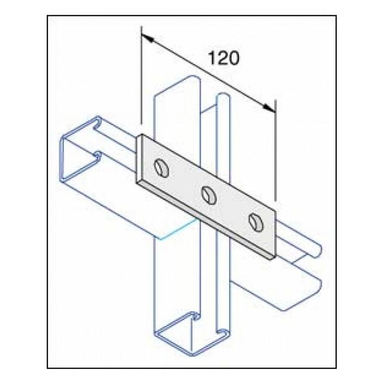 P1067 Unistrut Flat Plate Channel Support Bracket 4 Hole Hot Dip Galvanised