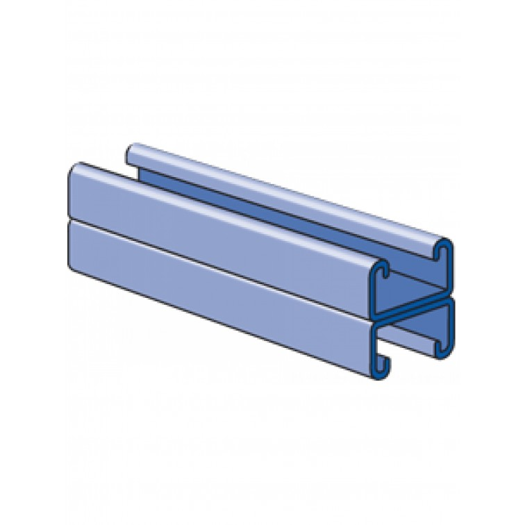 Unistrut Channel 41x42 Back to Back Pre-Galvanised 6m (P3301)
