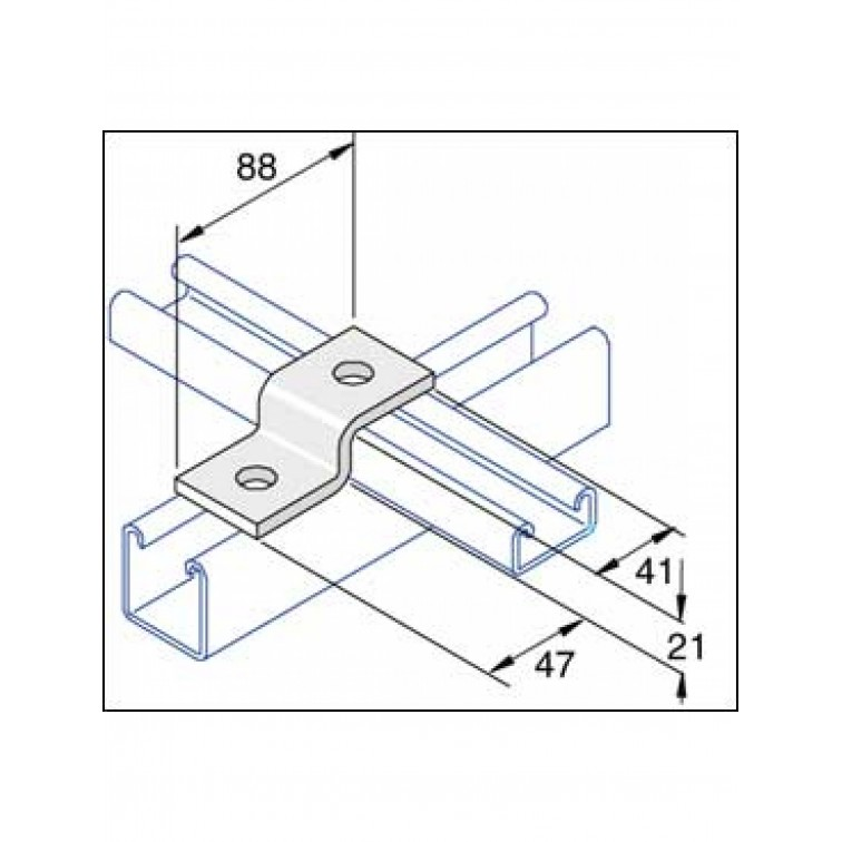 Unistrut 2-Hole Z Shape Channel Bracket Hot Dip Galvanised (P4045)
