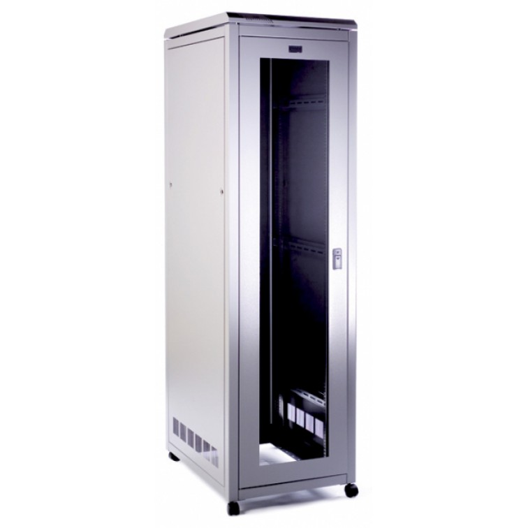 PI Data Cabinet 39U 600mm Wide X 600mm Deep x Height 1945mm - Glass Door