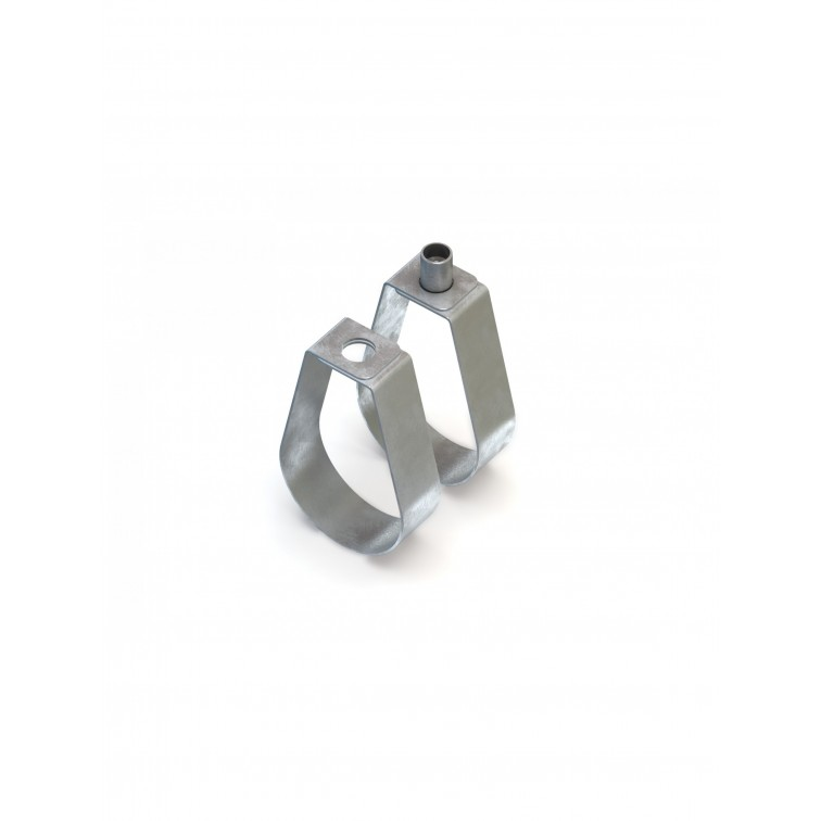 Lindapter 125mm Strap Hanger 17mm Hole Zinc Plated (SH125N)