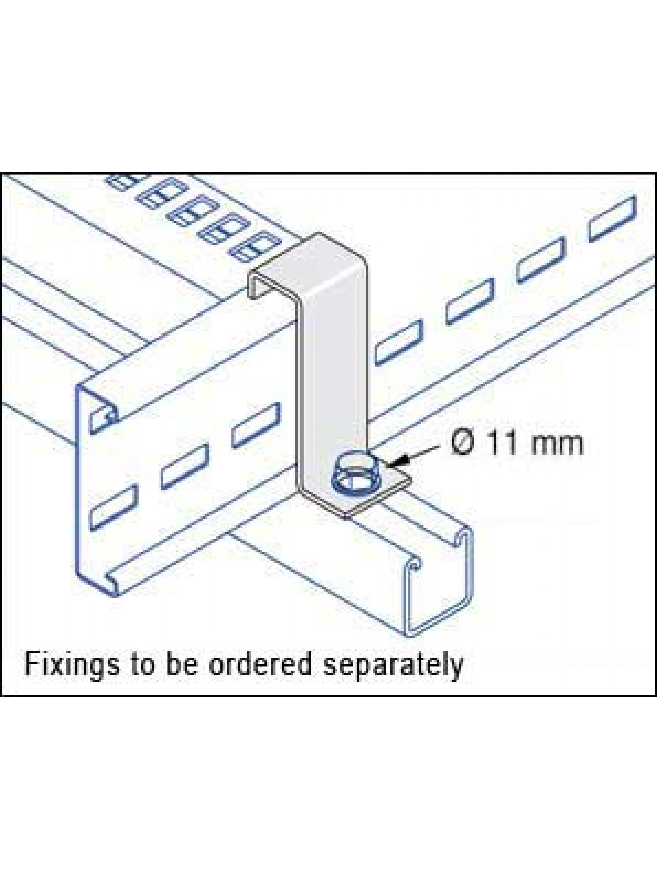 Unistrut U12 Cable Ladder  125mm H/D Bracket Hot Dipped Galvanised  (U12/HDB/H)