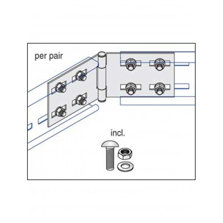 Unistrut U15 Cable Ladder. 150mm Hortizontal Couplers Hot Dipped Galvanised (U15/HSP/H)