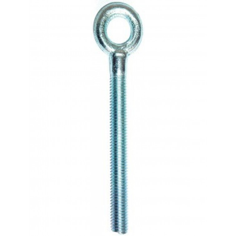 JCP Forged Hookbolts Zinc Plated and Clear Passivated Thread Diameter 6mm Thread Length 50mm (FHM06)