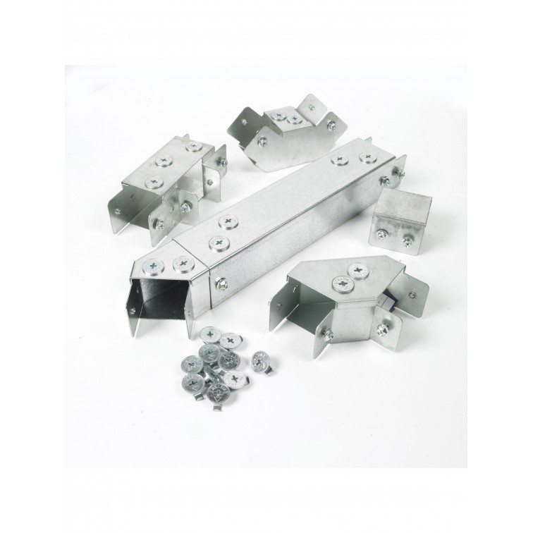 Unistrut Lighting Trunking 50x50 SHORT Coupler Galvanised ** End M6 Screws ** (RLUCOUPSRT)